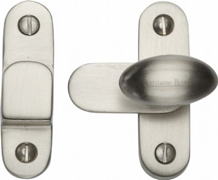 M Marcus Heritage Brass  V1970-SN Cabinet Hook and Plate Satin Nickel